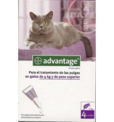 ADVANTAGE 80 para gatos com mais 4kg - 4 pipetas
