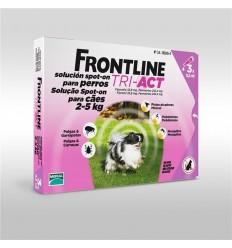 Fontline Tri-Act XS Cão 2-5KG - 3 Pipetas