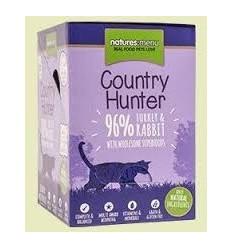 Natures Menu Country Hunter Gatos Húmidos c/ Perú e Coelho Pack 6x85Gr