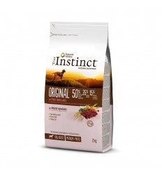 Instinct Dog Original Médium/Maxi Adulto Borrego 12kg