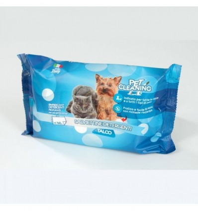 Pet Cleaning Toalhitas de Limpeza Talco p/ Cão e Gato 40 uni.
