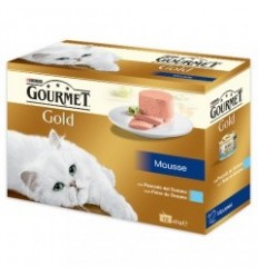 Purina Gourmet Gold Mousse Pack 8 + 4 OFERTA ( 85 gr)