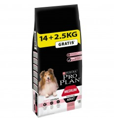 Purina Pro Plan Medium Adult Sensitive Skin Optiderma 14kg + 2,5kg OFERTA