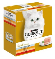 Purina Gourmet Gold Mousse Pack 5+3 LATAS OFERTA (85gr)
