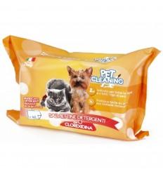 Pet Cleaning Toalhitas de Limpeza c/Clorexidina p/ Cão e Gato 40 uni.