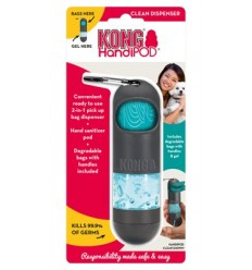 Kong Handipod Dispensador p/ Sacos de Dejectos + Gel Desinfectante