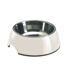 Alimentador/Bebedouro Hunter Melamina/Inox Branco - M (350ml)