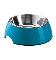Alimentador/Bebedouro Hunter Melamina/Inox Azul M - (350ml)