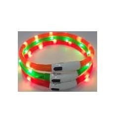 Coleira Karlie Visio Light LED Laranja 70 Cm