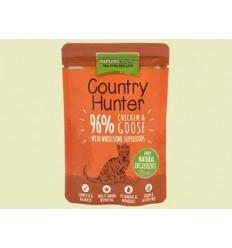 Natures Menu Country Hunter Gatos Húmidos c/ Frango e Ganso Saqueta 85Gr