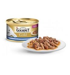 Purina Gourmet Gold Duplo Prazer Peixe do Oceano e Espinafres 85gr