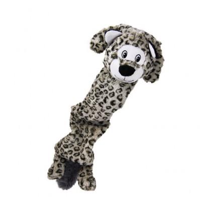 Brinquedo Kong Peluche Elástico Jumbo Stretchezz c/ som Leopardo - XL (75 cm)