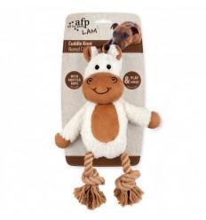 Brinquedo AFP Peluche p/ Cão c/ Corda Dental Burro (31 cm)