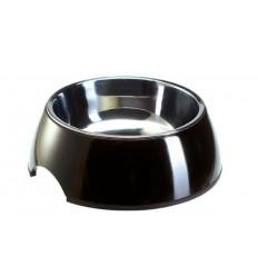 Alimentador/Bebedouro Hunter Melamina/Inox Preto - M (350ml)