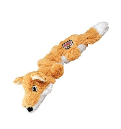 Brinquedo Kong Peluche Scrunch Knots Raposa - Medium/Large (37cm)