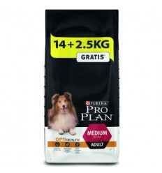 Purina Pro Plan Medium Adult OptiBalance 14kg + 2,5kg OFERTA