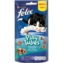 Purina Snacks Felix Play Tubes Snack p/ Gato com aroma a Peixe Assado e Camarão 50gr
