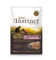 True Instinct Gato húmidos High Meat Fillets Adulto Salmão e Vegetais