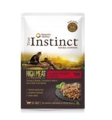 True Instinct Gato húmidos High Meat Fillets Adulto Vaca e Vegetais
