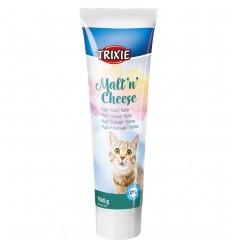Pasta de Malte Trixie c/ queijo e biotina Anti-Hairball - Alimento Complementar p/ Gato