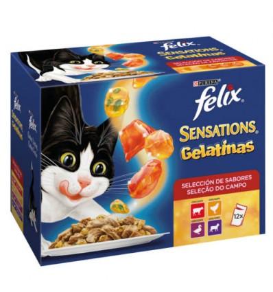 Purina Gatos Húmidos Felix Sensations Gelatinas 12x100gr