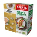 Purina Gourmet Gold Mousse/Nature's Creations Pack 6+2 OFERTA (85gr)