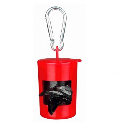 Dispensador Plástico Trixie Cores Sortidas p/sacos dejectos + Recarga