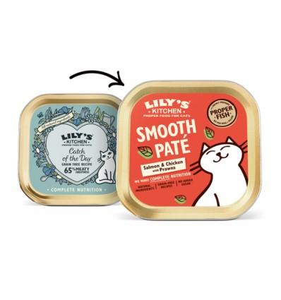 Lily´s Kitchen Gato Húmidos Salmão e Frango com Camarão (Smooth Paté)
